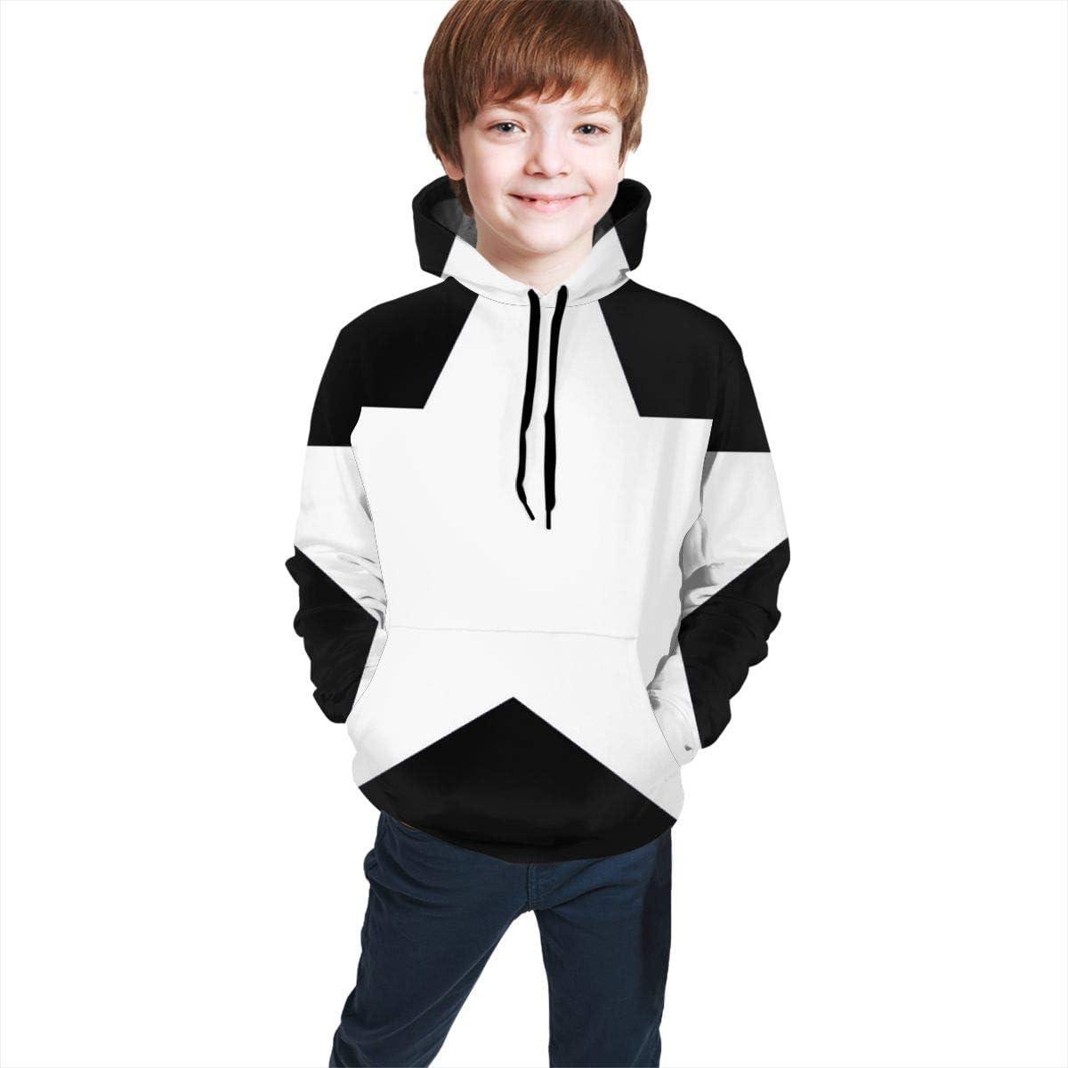 Bestpillow Sweater tee Girls and Boys White Star Hoodie