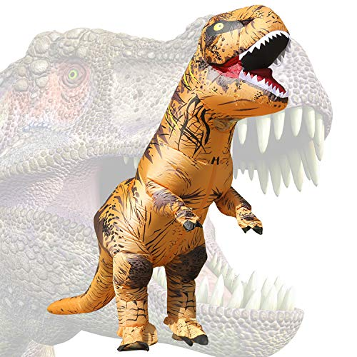 JASHKE Aufblasbares Kostüm Halloween Blow Up Kostüme Cosplay Party Kostüm Overall (T-rex)
