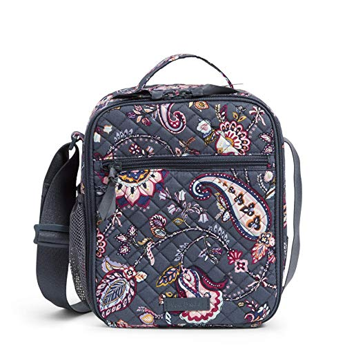 Vera Bradley Women's Signature Cotton Deluxe Lunch Bunch Lunch Bag, Felicity Paisley, One Size