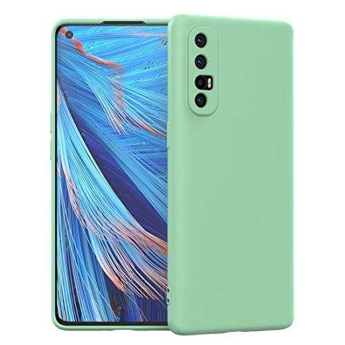FUNMAX+ Oppo Find X2 Neo 5G Hülle Case, Silikon Handyhülle mit [Schutz für Kamera] [Faser-Innenraum] Anti-Scratch Dünn Schutzhülle Stoßfest Cover für Find X2 Neo (Grün)