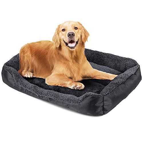 NIBESSER Hundebett Hundekorb Hundesofa Tierbett für Kleine, Mittlere und Grosse Hunde - Waschbar - Schwarz