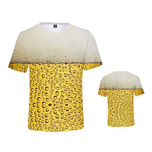 Scopri offerta per weiwei T-Shirt Kids Divertenti Maglietta Birra Maniche Corte Casuale Maglia Stampa,Tall 140cm