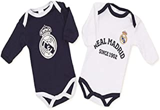 12b9007838a Pack Real Madrid 2 Bodys Blanco y Azul (3 Meses)