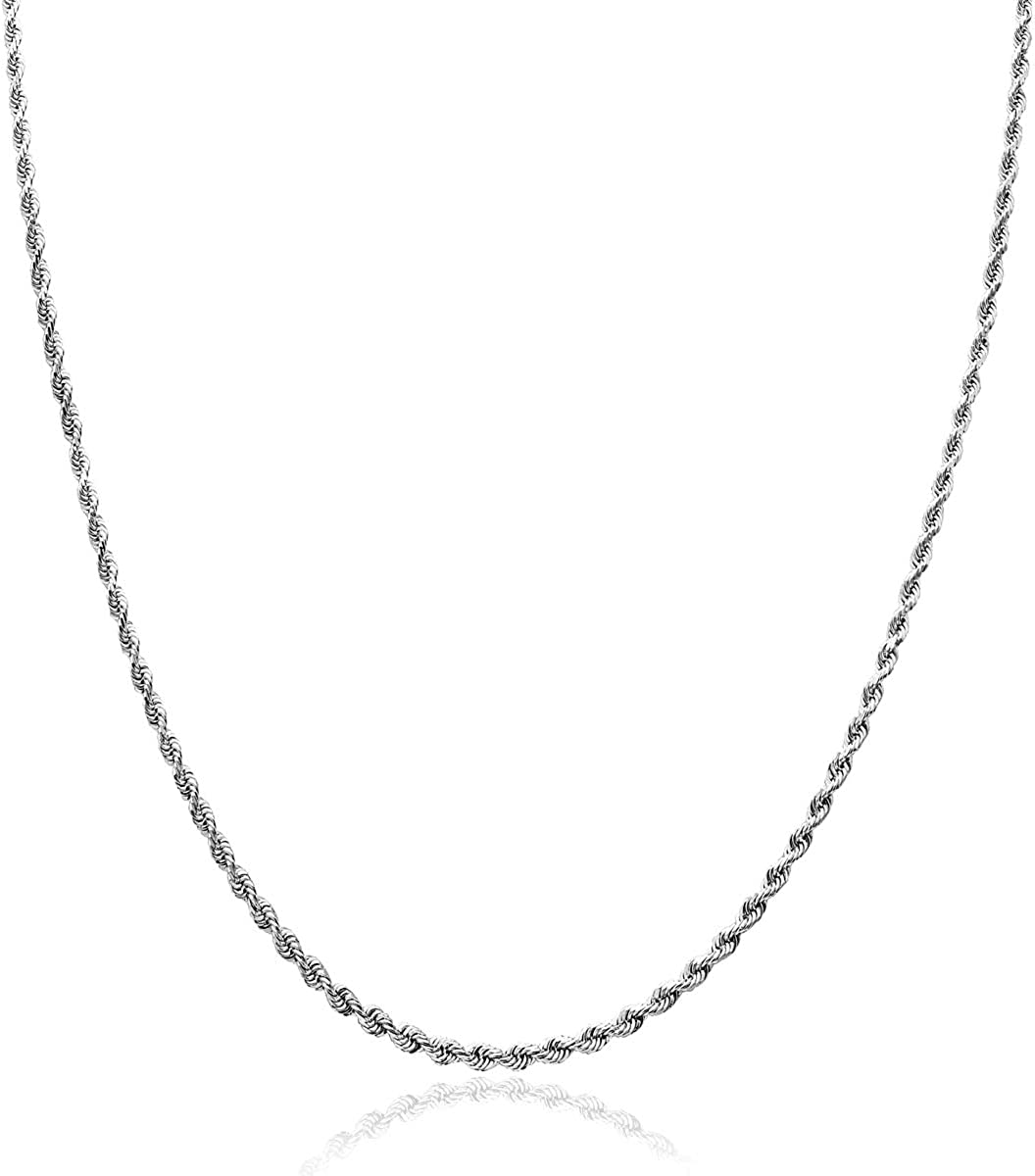 Honolulu Jewelry Company 14K Solid Necklac 1.5mm Chain Max 48% OFF Fresno Mall Rope Gold