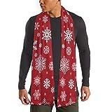 Hipiyoled Patrón de Copos de Nieve Navidad Copo de Nieve Que Cae Bufandas Cuello Bufanda Chal Estola Abrigo Abrigo Ropa de Mujer Accesorio