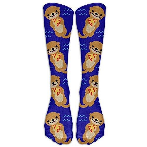 YuanHu Süße Otter Lov Pizza Kreative Strümpfe Socken Athletic Crew Socks