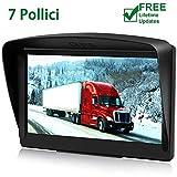 POMILE Navigatore Satellitare Auto per Camion, 7 pollici GPS per Auto Camion...