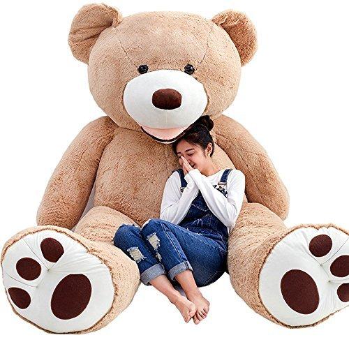 Hugme 250 cm Plüsch Teddy Giant Giant XXL Riesen Teddybär Plüsch-Teddybär Hellbraun