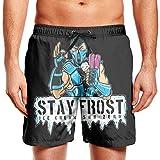 Slimerland Men's ice-Cream-sub-Zero- Beach Trunks Quick Drying Waist Drawstring Cargo Pants for Men Swim Pants for Men