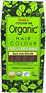 RADICO - 100% Natural Hair Color - Dark Ash Blonde - Covers Gray Hair - Protects and Nourishes - Certified by Ecocert - 100 g