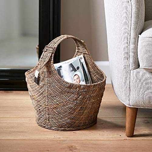 Riviera Maison - Rustic Rattan - Best Magazine Basket - Peddigrohr - Natur - (BxHxL) 26 x 38 x 40cm