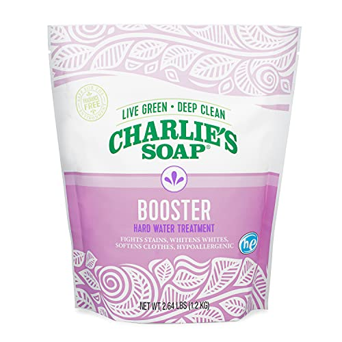 Charlie's Soap Booster & Hard Water Treatment (2.64 Lbs, 1 Pack) Natural Powdered Water Softener and Laundry Booster – Non-Toxic, Safe and Effective