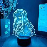 Lámpara de noche 3D con diseño de anime Demon Slayer Kamado Nezuko lámpara de noche regalo para niños dormitorio decoración 3D LED lámpara de noche lámpara de mesa manga regalo 7 colores tocando