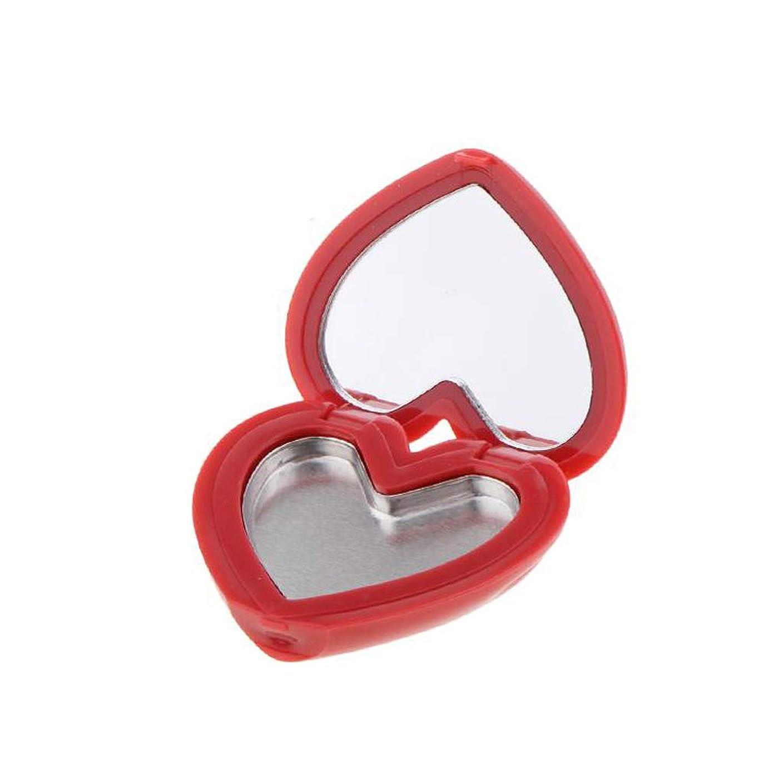 保証写真を撮るトロリーバスToygogo ハート型 口紅 アイシャドウ リップスティック ケース コスメ用 詰替え容器 全4色 - ローズ