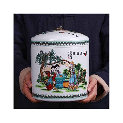 New QIANZICAI Tea Cans, Seven Tea Cake Cans, Large Tea Cake Box Cans, Universal Moisture-Proof Seale...