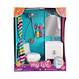 My Life as 18' Doll 17 Pc Bathroom Playset - Light up vanity, Flushing Toilet