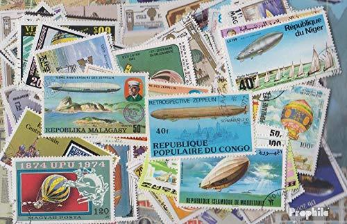 Motieven 200 verschillende Ballonnen Postzegels (Postzegels voor verzamelaars) luchtvaart