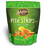 Mano's Authentic Pita Chip Strips – Healthy, Thin, Snack-able, Bite Sized Pita Chips – Lemon &...
