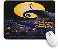 Mabby マウスマット ゲーミング オフィス マウス パッド,Scarecrow Style Nightmare Before Christmas,Non-Slip Rubber Base Mousepad for Laptop Computer PC Office,Cute Design Desk Accessories