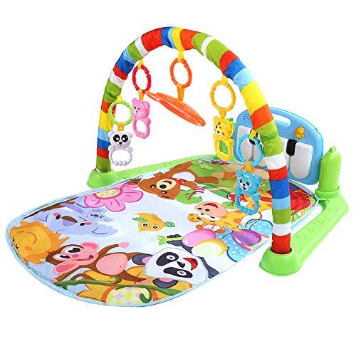 Manta de juegos para bebés, con arco de juegos suave y piano, para niños de 0 a 18 meses, 75 x 63 x 45 cm