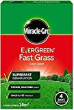 Miracle-GRO Evergreen Fast Grass Lawn Seed 840g - 28m sq Cover- Superfast Germination