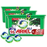 Ariel Pods All-in-One with Oxi Stain Remover Washing Liquid Laundry Detergent Tablets/Capsules, 96 Washes (32 x 3)