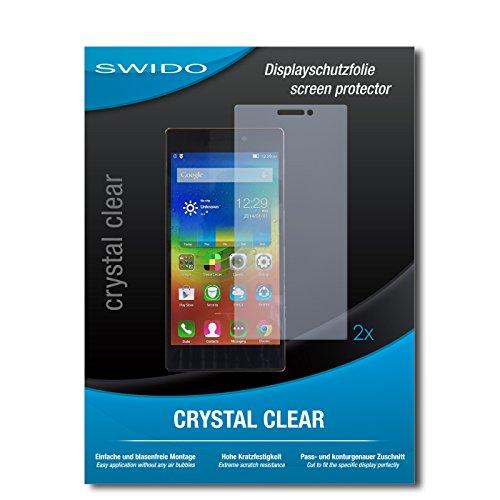2 x SWIDO Protector de pantalla Lenovo ZUK Z2 Protectores de pantalla de película 'CrystalClear' invisible