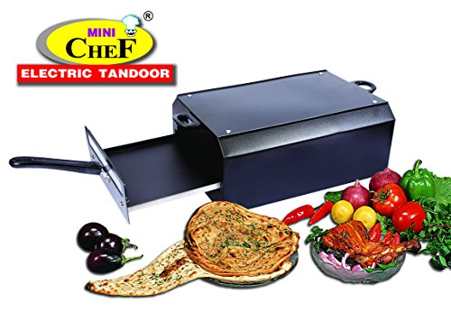 mini chef electric tandoor Double Layer Non Stick Coated Tray, Food Warming Top Plate and 1 Magic Cloth (Black)