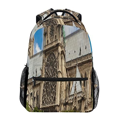Bellissimi zaini college Notre Dame De Paris per le donne Zaino classico per il tempo libero da donna per uomo e donna per il lavoro scolastico di viaggio oversize personalizzato personalizzato da 16