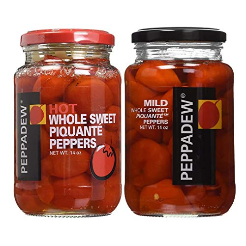 Peppadew Whole Piquante Peppers Assorted pack of Hot and Mild- 14oz Each