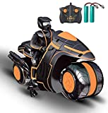 Long Battery Life - The remote control motorcycle is equipped with 2 x 3.7V 500 mAh rechargeable batteries, can be played about 30 minutes with 2 batteries, 2*1.5AA batteries for the transmitter are included Ease of Control - Easy to drive due to sel...