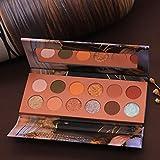 YANE Paleta De Sombras De Ojos 12 Colores Impermeable De Larga Duración Maquillaje De Ojos Colores Brillantes Sombras De Ojos Caja De Maquillaje para Escenario Pasarela Show,Color 2