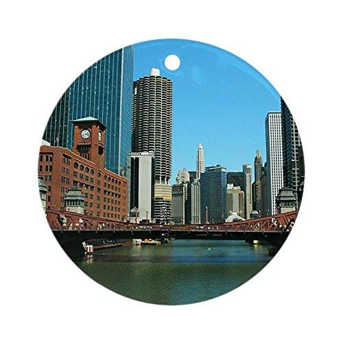 CafePress–Chicago Waterfront Ornament (rund)–Rund Urlaub Weihnachten Ornament