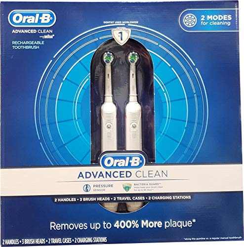 Oral B Advanced Clean Toothbrushes, 2 Count