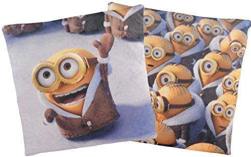 Minions Kissen: Arktis Bob mit Mantel / Minion Crowd, 40x40 cm