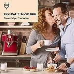 KLARSTEIN-Gusto-Classico-Macchina-per-Caffe-Espresso-Macchina-con-Filtro-1350-W-20-Bar-Serbatoio-Acqua-15-L-Griglia-Raccogligocce-Rimovibile-in-Acciaio-Rosso