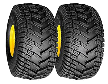 MARASTAR 20808-PK Turf Traction 20x8.00-8 Rear Tire Assembly Replacements for John Deere Riding Mowers 2 Pack