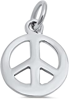 Brightt Peace Sign .925 Sterling Silver Pendant