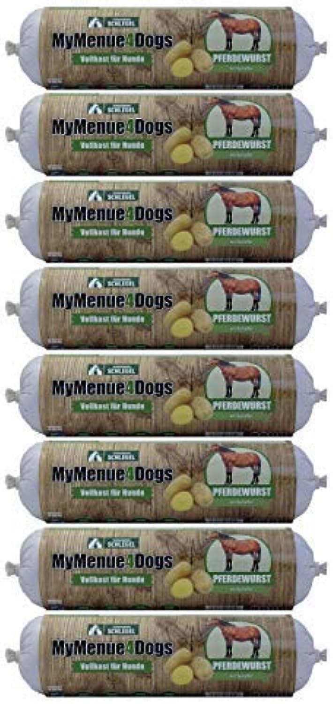MyMenue4Dogs Dog Food Pferdewurst  8x 800g