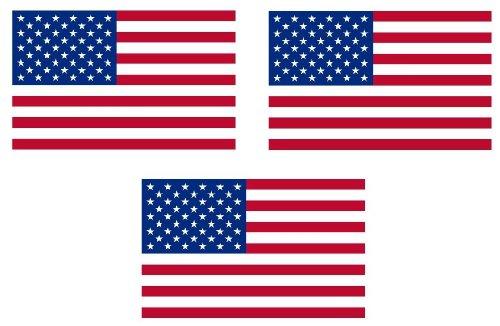 Michael & Rene Pflüger Barmstedt - 3X Mini Premium Aufkleber - 4x2,5 cm - Fahne/Flagge der USA Amerika Sticker Fahrrad Motorrad Auto Bike Handy America