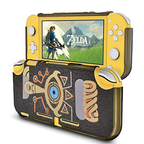 DLseego Protective Case for Nintendo Switch Lite of Zelda Breath of The Wild,Hard PC Shock-Absorption and Anti-Scratch Design, Embossed with Sheikah Slate Eye Compatible Nintendo Switch Lite