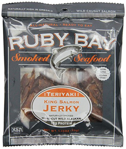 Ruby Bay Wild Salmon Jerky, Teriyaki, 1.25 Ounce