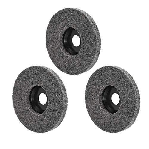 Ruedas de pulido de 5 pulgadas para 100 amoladoras angulares de esquina, 3 piezas, color negro