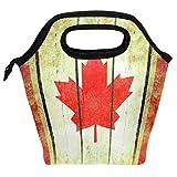 Bolsa de almuerzo con diseño de bandera de Canadá, reutilizable, aislada, para mujeres, niños, parrillas, almuerzos, preparación de comidas, bolso de mano para la escuela, picnic, oficina