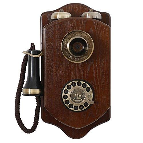 DNSJB telefono Fijo Colgante de Pared Teléfono Antiguo Vintage , Rotary Dial Telephone Clásico con Cable Retro Teléfonos fijos Antiguos