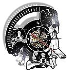 Nfjrrm Perro Pata Vinilo álbum reutilizar Registro Reloj de...