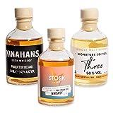 Foodist Whisky Tasting Probierset Miniaturflaschen (3 x 50ml) mit St. Kilians, Kinahans, STORK Club - perfekte Geschenkset mit Hintergrundwissen und Tasting-Schulung für Whiskey-Liebhaber