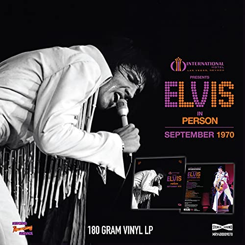Las Vegas International Presents Elvis – September 1970 [VINYL]