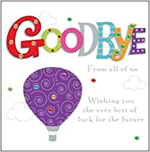 "Goodbye from All of Us Greeting Card 8"" Square Handmade Leaving Cards"