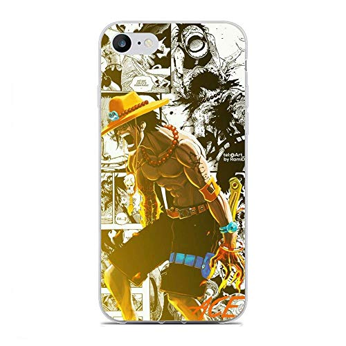 Gogoyang Clear Coque Ultra-Thin Transparent Soft TPU Case Cover for Apple iPhone 7/8/SE 2020-My Hero-Academia One-Piece 5